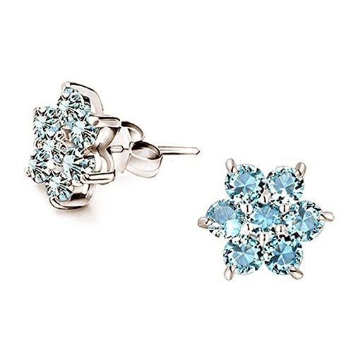 Gefroren Bodengleiter-selbstgemachte Blumen Schneeflocke Blau Damen Winter Schmuck für - Gefroren Thema Schneeflocken