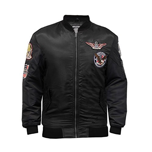 SoulStar -  Giacca - Maniche lunghe  - Uomo Black Chest 56 - Army Aviator Badge