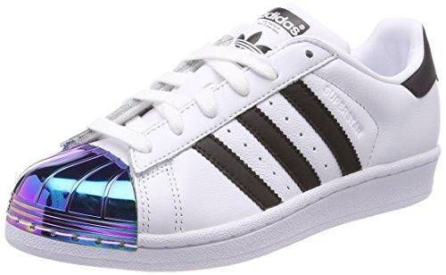 adidas Damen Superstar Metal Toe Fitnessschuhe, Weiß (Ftwbla/Negbás/Supcol 000), 37 1/3 EU -