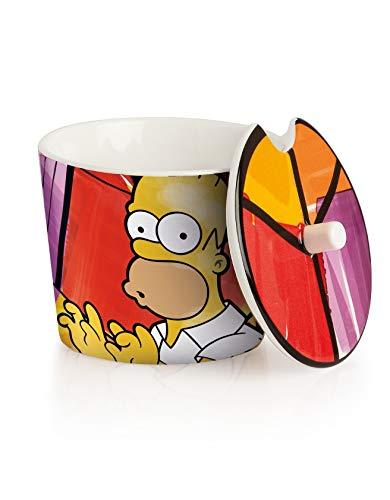 The Simpsons Homer pts41/1S Sucrier, modèle/Marge, Porcelaine, Multicolore, 2 unités