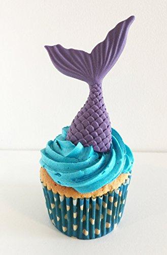 6 Zucker Meerjungfrau Schwänze: Lila / 6 Sugar Mermaid Tails: Purple