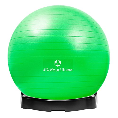 Gymnastikball »Pluto« inklusive Ballschale / Robuster Sitzball und Fitnessball / 75 cm / rot - 5