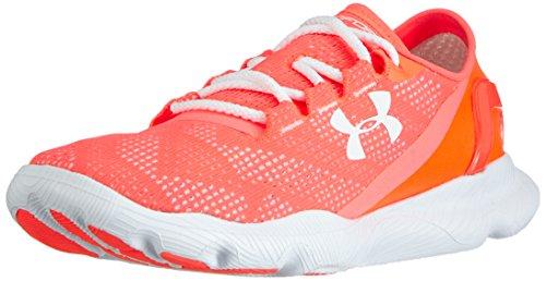 Under Armour Ua W Speedform Apollo Vent, Chaussures de course pour compétition femme Rouge - Rot (After Burn/White/White 878)