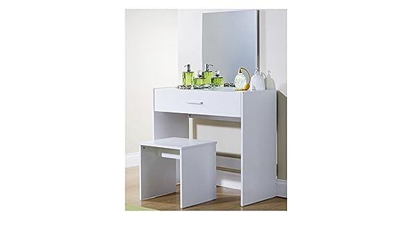 Xpress delivery julia toeletta e sgabello in colore bianco: amazon