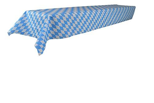 Wiesn Bierzeltgarnitur Tischdecke - abwischbar - aus stoffähnlichem Vlies, Öko-Tex 100, Bavaria, Bayernmuster,1 x 2,5m, ideal für jede Party, Oktoberfest Deko (Blauer Stoff Tischdecke)