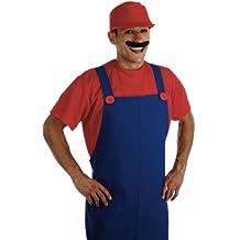 Plumbers - Disfraz de súper Mario Bros para hombre, talla 52 - 56 (FS2279-L)