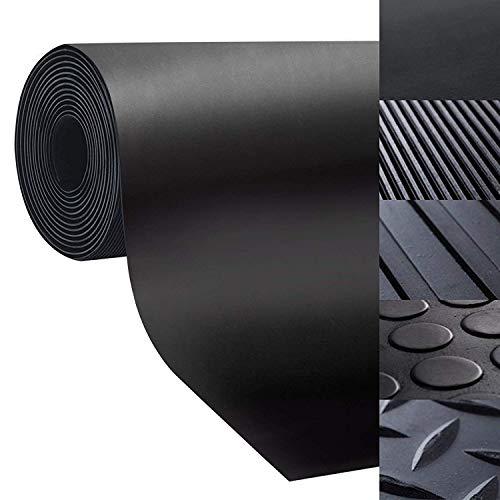 Bodenmatte aus Gummi - rutschfeste Gummiplatte   Geeignet als Garagenbodenmatte, Pferdestallmatte oder Werkbankmatte   Viele Größen zur Auswahl (1,2x1 m, Glatt - Stärke: 3mm)