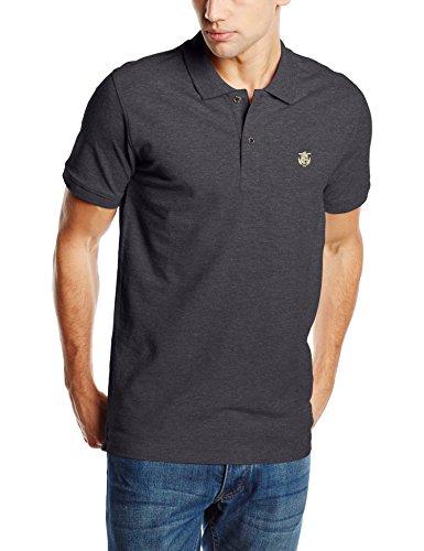 SELECTED HOMME Herren T-Shirt Shdaro SS Embroidery Polo NOOS Grau (Dark Grey Melange)