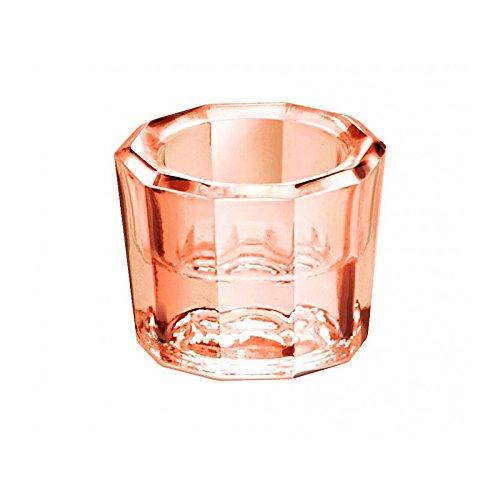 Dappenglas, zum anrühren mischen von Wimpernfarbe, Acrylpulver, Liquid, Dappen Dish Glas, Rosa