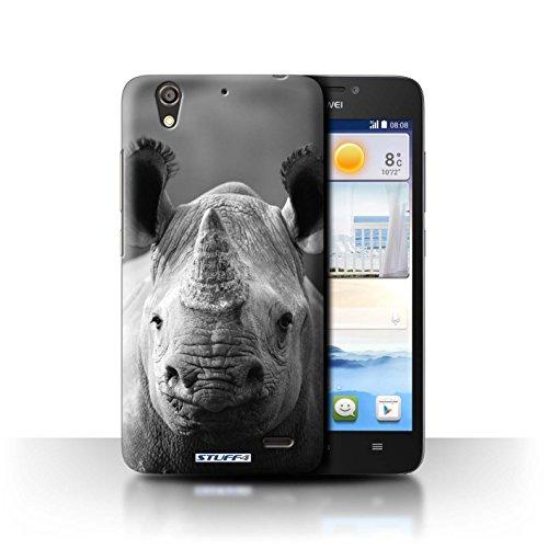 Stuff4® Hülle/Hülle für Huawei Ascend G630 / Nashorn Muster/Zoo-Tiere Kollektion