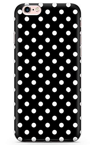 iPhone 6 / 6s Negro Elegante Diseñador del Lunar Funda de Teléfono de Goma Cover Moda Linda Tendencias Chicas Estilo