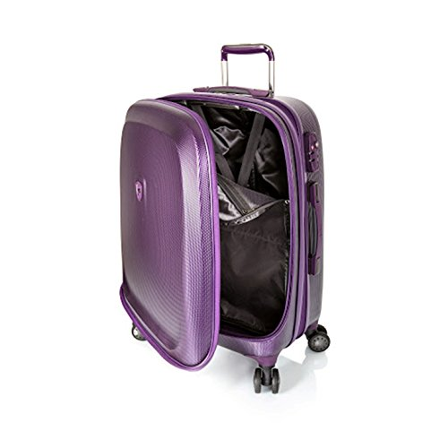 ... 50% SALE ... PREMIUM DESIGNER Hartschalen Koffer - Heys Crown Smart Gateway Lila - Trolley mit 4 Rollen Gross Lila