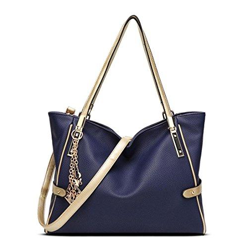 Transer Women Shoulder Bag Popular Girls Hand Bag Ladies Leather Handbag, Borsa a spalla donna Red 24cm(L)*15(H)*9cm(W) Blue