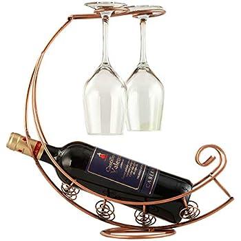 Weinflaschen-Gläserhalter, Glashalter; Holz natur; für 1
