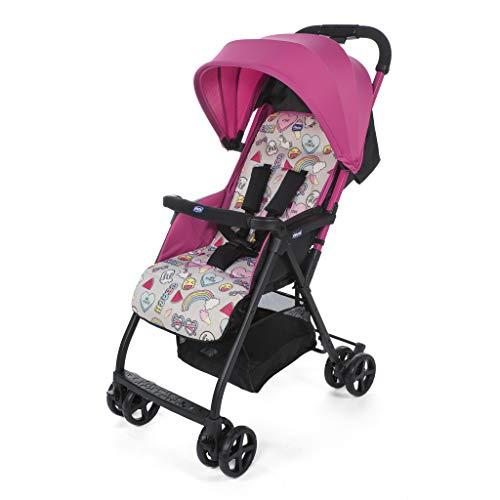 Chicco Ohlala2  Silla de paseo ultraligera y compacta, solo 3,8 kg, color rosa estampado