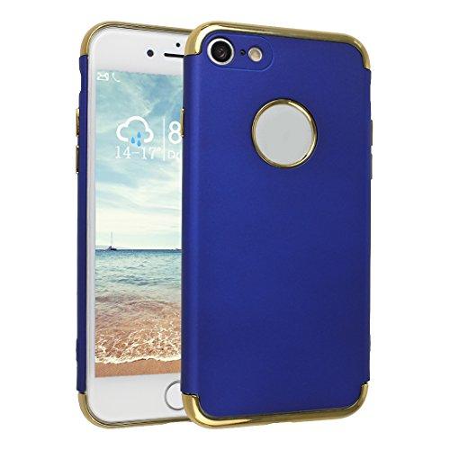 Coque Pour iPhone 7, Asnlove PC Hard Cover Dur Couleur Pure Housse Ultra Mince Cas Rigide Étui Mode Case Pour iPhone 7 - Bleu Bleu