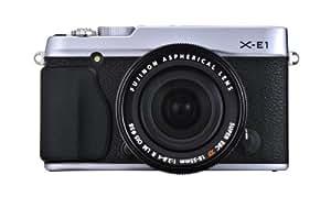 Fujifilm X-E1 Kompakte Systemkamera (16 Megapixel, 7,1 cm (2,8 Zoll) LCD-Display, Full HD) inkl. Fujinon XF18-55mm F2.8-4 R LM OIS Kit Objektiv silber