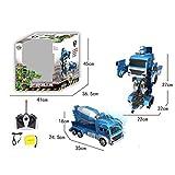 LJSHU Telecomando per Bambini Carica di Un Pulsante Gesto di deformazione Ingegneria Auto 1:10 Multi-Funzione Gioco Kid ' s Equipment,B