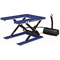 Disset Odiseo MSA1665 Mesa Elevadora con Plataforma Entera, Azul Ultramar, 35 Tiempo Elevación, 1600 mm x 1000 mm x 105mm/870 mm
