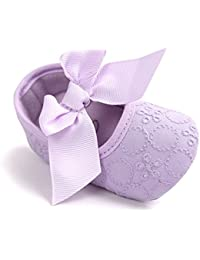 Auxma Bebé Niña Zapatos suela blanda Bowknot Zapatos flor zapatillas prewalker