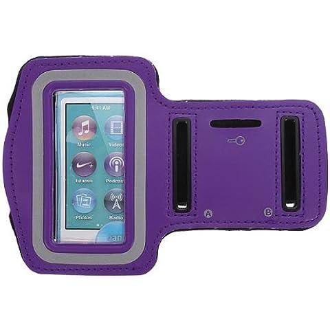 Correr Deporte Gimnasio Soft Armband bolsa del caso para el iPod Nano 7 Gel.