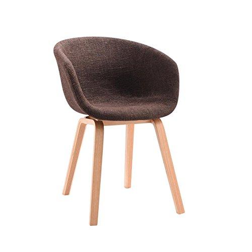 YIXINY Chaise Créatif Chaise À Manger Fauteuil Chaises De Bureau Pieds En Bois Massif Tissu Coussin ( Couleur : Marron )