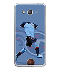 PrintVisa Designer Back Case Cover for Samsung Galaxy On7 Pro :: Samsung Galaxy On 7 Pro (2015) (Soccer Player In Blue Design)