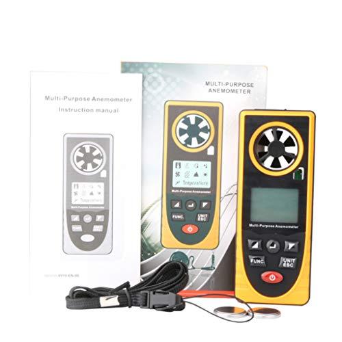 Anemómetro Digital Anemómetro portátil de Alta precisión LCD Digital Medidor de Velocidad del Viento...