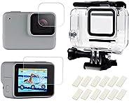 SHOOT Custodia Impermeabile Protettiva per GoPro Hero 7 White e Hero 7 Silver con Pellicola per Schermo Temper