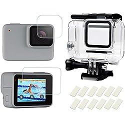 Shoot Boîtier Étanche avec Coque pour Écran et Gaine Anti-Buée pour GoPro Hero 7 White & Hero 7 Silver