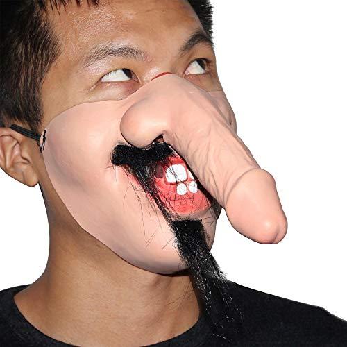 LJJTDS Halloween Karneval Kostüm Ball Parodie DIY Requisiten Lustige Latex Maske (Halloween Makeup Diy Skelett)
