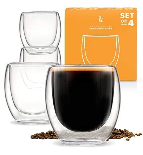 Espresso Tasses à café Verre à liqueur Lot de 2 - Double Paroi isotherme Set of 4 verre
