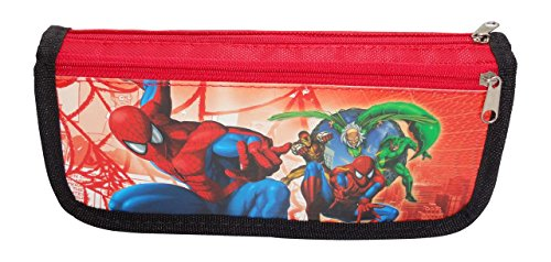 Cloud 9 Red Color Boys Cartoon Character Printed Pen/Pencil Pouch for Kids