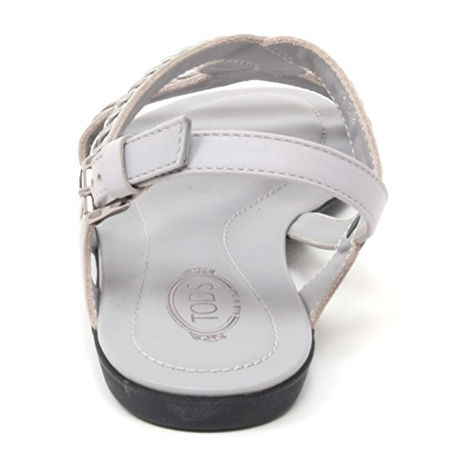 B4546 sandalo donna TOD'S scarpa ricamo grigio shoe woman Grigio