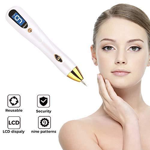 PHNWL-Spot Eraser Pro, Penna Per Rimozione Talpa Professionale - Kit di Rimozione Etichetta Skin Con 9 Modalità Force, Schermo LCD, Ricaricabile USB