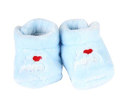 chausson j'aime papa - bébé Bleu