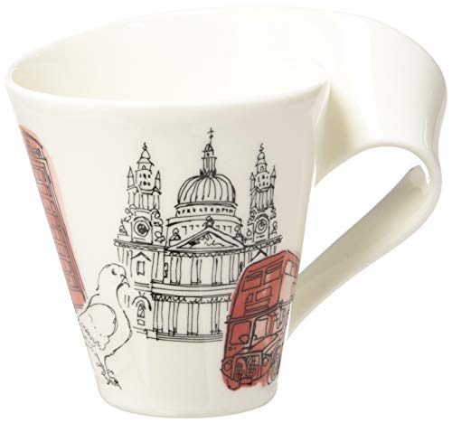 Villeroy & Boch Cities of the World Kaffeebecher London, 300 ml, Höhe: 11 cm, Premium Porzellan, Weiß/Bunt