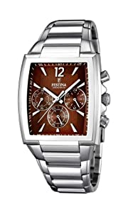 Festina 0 - Reloj de cuarzo para hombre, con correa de acero inoxidable, color plateado de Festina