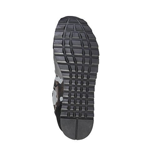 Trussardi Jeans 77S066 Nero e Grigio Sneakers Uomo Scarpa Sportiva Casual Nero