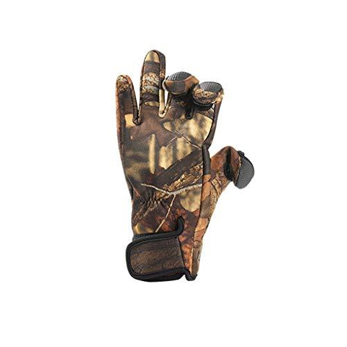 guanti caccia Mengonee Pesca Guanti antiscivolo schermo di tocco Calore Caccia Outdoor Sport Ciclismo Mezza Pollice Indice Middle Finger Accessori sportivi