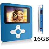 Btopllc 16GB Karte MP3-Player MP4-Player Musik Video Media Player Tragbare Voice Recording-Player / Bild / Spiele / Kopfh?rer / Ebooks