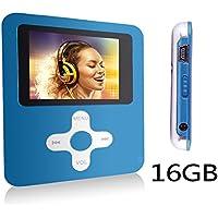 Btopllc Lettore MP3 MP4 Music Video Media Player Portable Voice Recording Giocatore / Immagine / Giochi / auricolare / Libri con 16GB Scheda