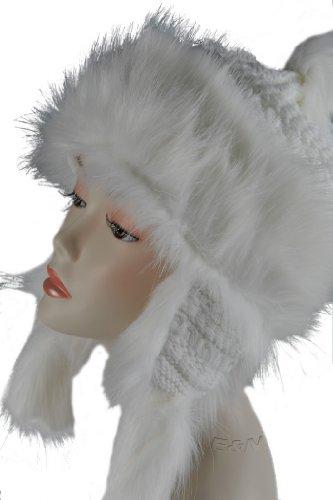 Wool & Faux Fox Fur Winter Mongolian Hat Ushanka Trapper Russian Style Hat