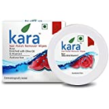 Kara Wipes Nail Polish Remover With Vitamin Removes Nail Polish, Rose (30 Pulls) x ( Pack Of 2 )