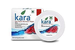 Kara Wipes Nail Polish Remover With Vitamin Removes Nail Polish, Rose (30 Pulls) x (Pack Of 2)