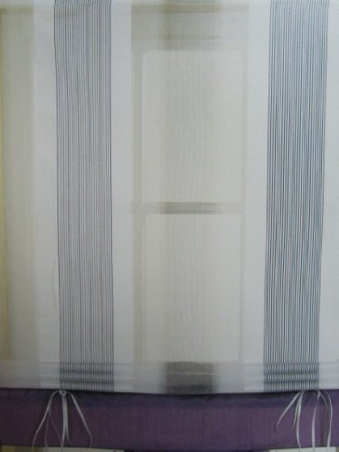 Raffrollo Lila Bändchenrollo 100 B x 135 cm H