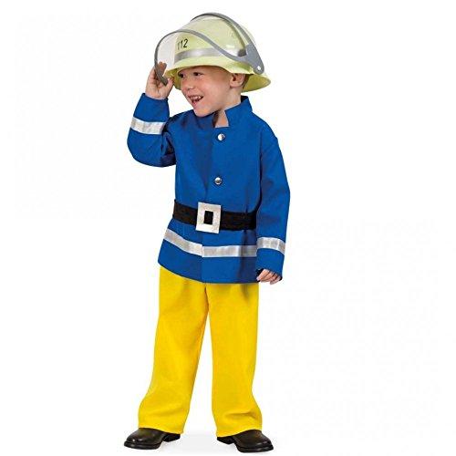 Kostüm Feuerwehrmann blau-gelb Gr. 116 Jacke Hose Gürtel Feuerwehr Uniform (Gelbe Jacke Kostüm)