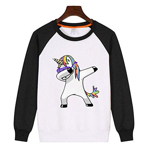 PZJ® Sweat à Capuche, Pull à capuche pour femme, Sweat-shirt à capuche Manches Longues pour Femmes Pull Tops Impression de la licorne Style5