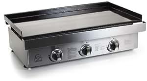 Gas griddle plate 3 burner cast-iron burner fry griddle plate Tristar Bq-6395 Gas griddle plate 3 burner cast-iron burner