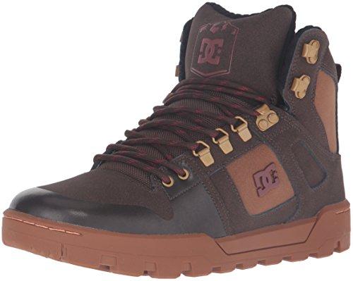 DC Men's Spartan High WR Boot Skate Shoe, Brown/Brown/Red, 6 M US (Skate Dc High Schuhe)